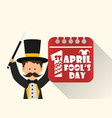 april fools day entertainer date image vector image