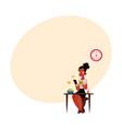black businesswoman using smartphone having vector image vector image