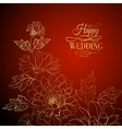 card background from chrysanthemums vector image vector image
