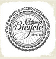 bicycle monochrome wheel custom shop vector image