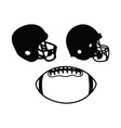 Football set vector image