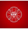 valentines day vintage design background vector image