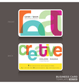 Creative Business cards Design Template vector image vector image