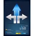 creative arrow infographic template vector image