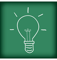 light bulb free hand doodle vector image