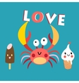 funny crab vector image