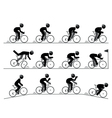 Bicycle racing pictogram vector image vector image