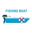 Fishing boat ship vector image