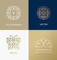 abstract modern logo design templates in trendy vector image vector image