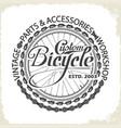 bicycle monochrome wheel custom shop vector image