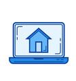 corporate website line icon vector image