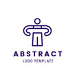 human outline character logo concept vector image