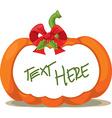 pumpkin label - vector image