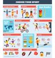 Sports Infographics Set vector image