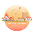 welcome to funfair - modern vector image