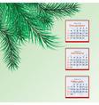winter calendar vector image