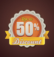 discount badge vector image