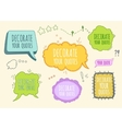 Set of Bubbles And Frames vector image