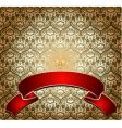 red on gold ornate banner vector image
