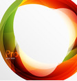 futuristic hi-tech glass wave abstract background vector image