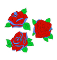 Set of four roses vector image vector image