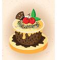 Cartoon cake vector image