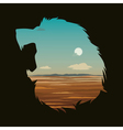 with lion head vector image