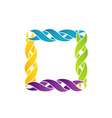 Colorful celtic frame over white vector image