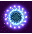 abstract violet star with shining light rays vector image