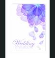 Invitation with Watercolor flower petals vector image vector image