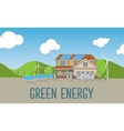 Flat Designed Banner Concept of Eco friendly house vector image