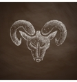 head of the ram icon vector image