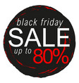black friday sale sticker badge sign stamp vector image