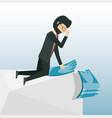 cartoon businessman design concept vector image