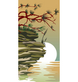 china land scape vector image