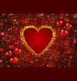 gold glitter a heart concept background vector image