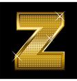 Golden font type letter Z vector image