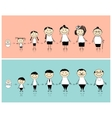Man and woman during different life stages vector image