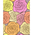 multicolored roses - seamless floral pattern vector image