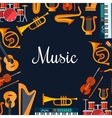 Music poster Wind and strings musical instruments vector image