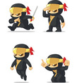 Ninja Customizable Mascot vector image