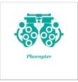 phoropter Optician vector image