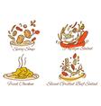 Thai foods vector image