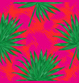 tropical flowers palm leaves jungle beautiful vector image