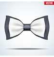 Black and white bow tie vector image