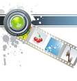 film strip background collection vector image vector image