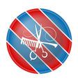 barbers shop symbol vector image vector image