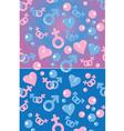 love gradient pattern vector image