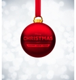 Red Christmas Ball vector image vector image