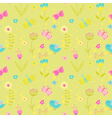 Baby Girl Seamless Background vector image